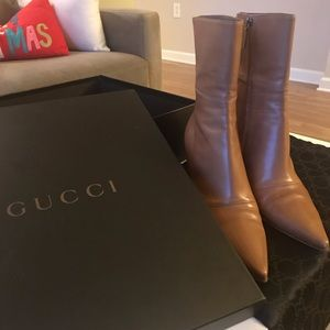 Gucci Stivaletto Pelle Ankle/Low Calf Booties